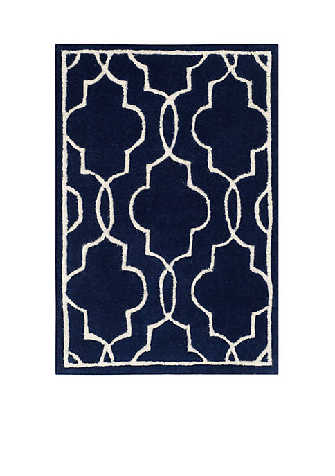 Safavieh Chatham Dark Blue/Ivory 2-ft. x 3-ft. Area