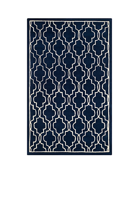 Safavieh Chatham Dark Blue/Ivory 4-ft. x 6-ft. Area