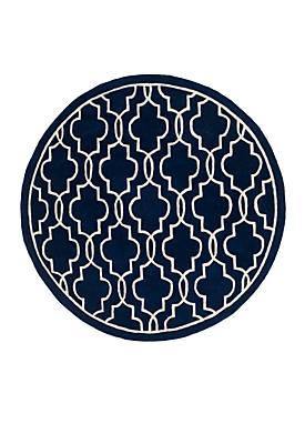 Chatham Dark Blue/Ivory 5-ft. x 5-ft. Area Rug