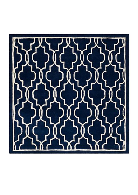 Safavieh Chatham Dark Blue/Ivory 5-ft. x 5-ft. Area