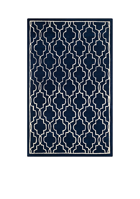 Chatham Dark Blue/Ivory 5-ft. x 8-ft. Area Rug