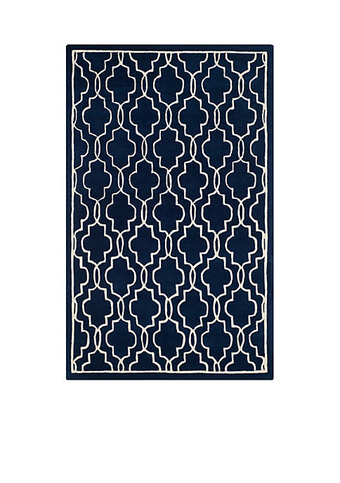 Safavieh Chatham Dark Blue/Ivory 6-ft. x 9-ft. Area