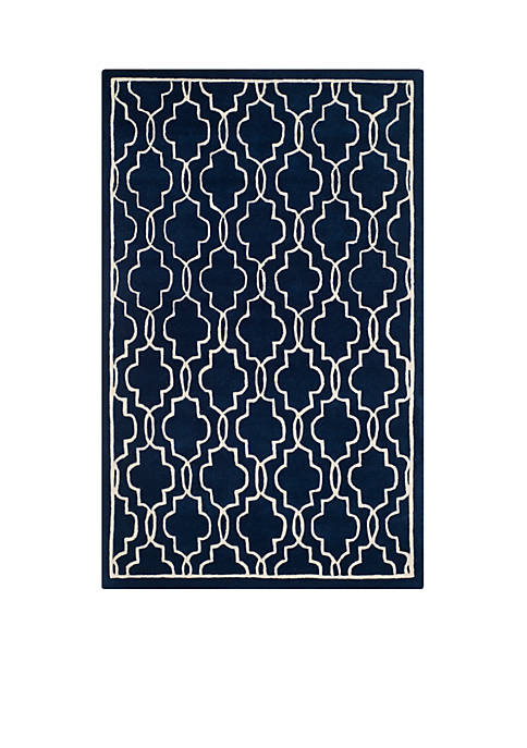 Safavieh Chatham Dark Blue/Ivory 8-ft. x 10-ft. Area