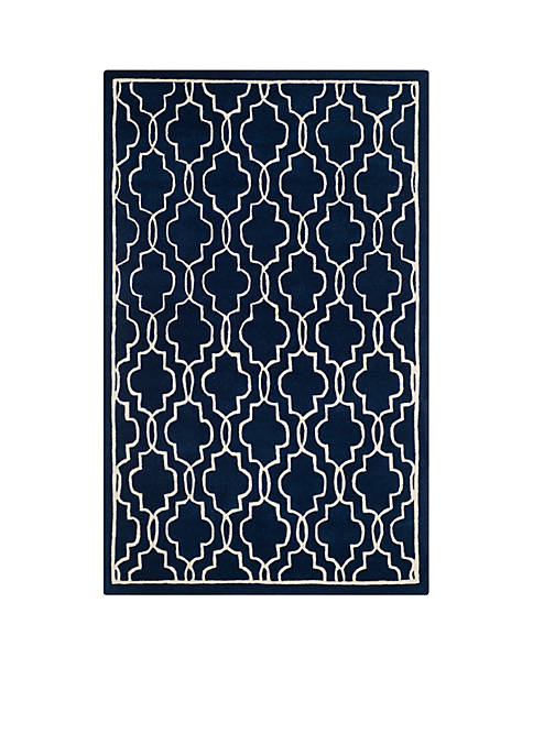 Safavieh Chatham Dark Blue/Ivory 8-ft. 9-in. x 12-ft.