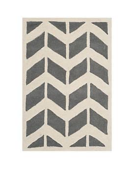 Chatham Dark Gray/Ivory 2-ft. x 3-ft. Area Rug