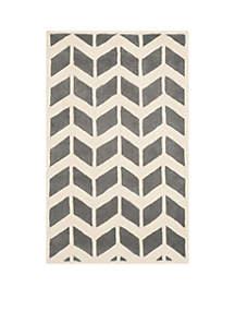 Safavieh Chatham Dark Gray/Ivory 3-ft. x 5-ft. Area Rug