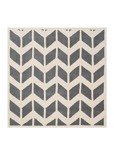 Chatham Dark Gray/Ivory 5-ft. x 5-ft. Area Rug