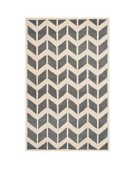 Chatham Dark Gray/Ivory 6-ft. x 9-ft. Area Rug