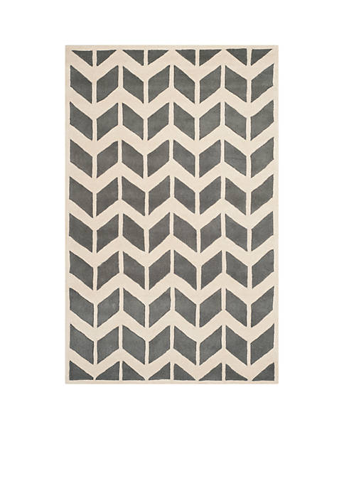 Chatham Dark Gray/Ivory 6-ft. x 9-ft. Area Rug