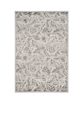 Carnegie Silver/Gray Area Rug 4-ft. x 6-ft.