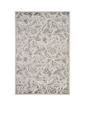 Carnegie Silver/Gray 5-ft. 1-in. x 7-ft. 6-in. Area Rug
