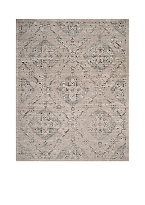 Carnegie Taupe/Light Blue 6-ft. 7-in. x 9-ft. 2-in. Area Rug