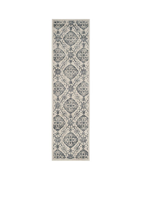 Safavieh Carnegie Cream/Light Gray Area Rug 2-ft. 3-in.