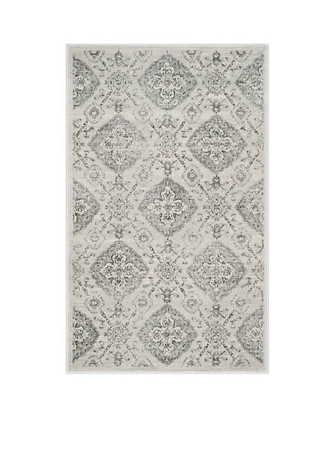Carnegie Silver/Gray Area Rug 5-ft. 1-in. x 7-ft. 6-in.
