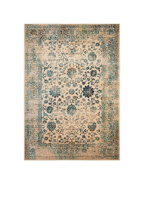 Safavieh Evoke Beige/Turquoise Area Rug 4-ft. x 6-ft.