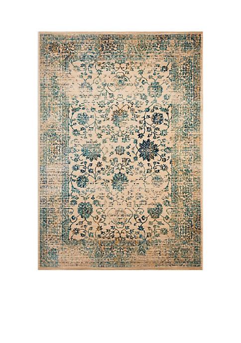 Safavieh Evoke Beige/Turquoise Area Rug 5-ft. 1-in. x
