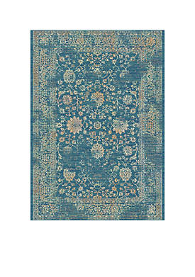 Evoke Light Blue/Beige Area Rug