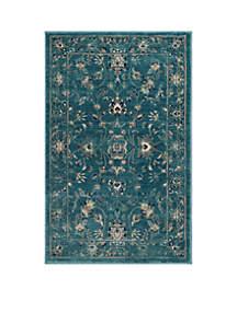 Evoke Turquoise/Beige Area Rug