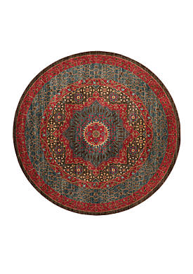 Mahal Navy/Red Area Rug