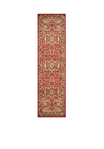 Mahal Natural/Navy Area Rug 2-ft. 2-in. x 6-ft.