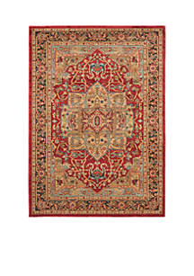 Mahal Natural/Navy Area Rug 3-ft. x 5-ft.