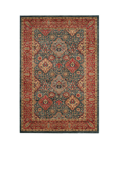 Safavieh Mahal Natural/Navy Area Rug 5-ft. 1-in. x
