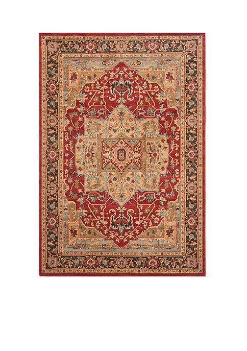 Safavieh Mahal Natural/Navy Area Rug 6-ft. 7-in. x
