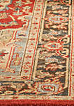 Mahal Natural/Navy Area Rug 6-ft. 7-in. x 9-ft. 2-in.