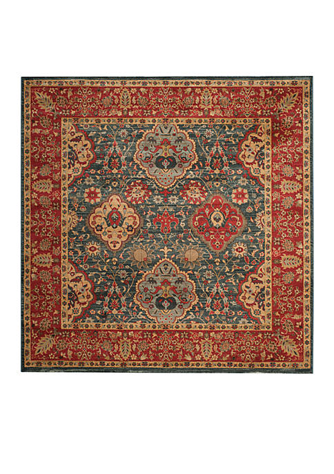 Mahal Natural/Navy Area Rug 6-ft. 7-in. x 6-ft. 7-in.