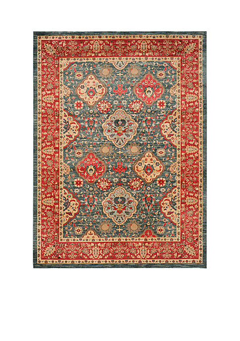Mahal Natural/Navy Area Rug 8-ft. x 11-ft.
