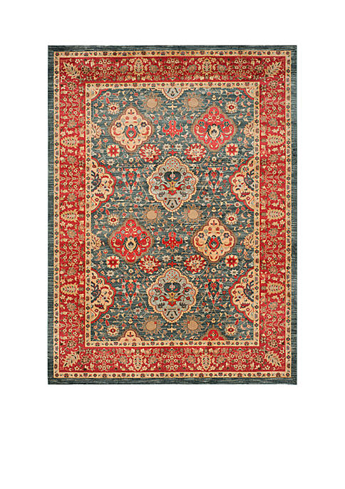 Safavieh Mahal Natural/Navy Area Rug 9-ft. x 12-ft.