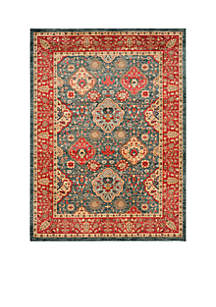 Mahal Natural/Navy Area Rug 9-ft. x 12-ft.