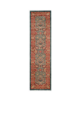 Mahal Navy/Red Area Rug 2-ft. 2-in. x 8-ft.