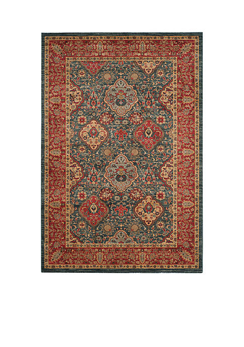 Mahal Navy/Red Area Rug 4-ft. x 5-ft. 7-in.