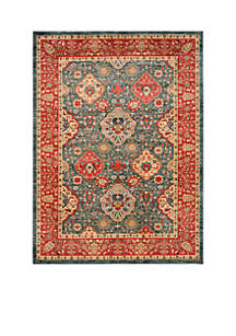 Mahal Navy/Red Area Rug 8-ft. x 11-ft.