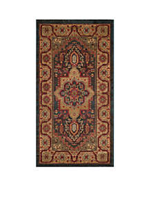 Mahal Navy/Natural Area Rug 2-ft. 2-in. x 6-ft.