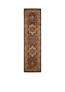 Mahal Navy/Natural Area Rug 2-ft. 2-in. x 8-ft.