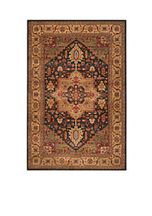 Mahal Navy/Natural Area Rug 5-ft. 1-in. x 7-ft. 7-in.