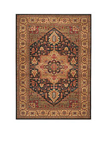 Mahal Navy/Natural Area Rug 9-ft. x 12-ft.