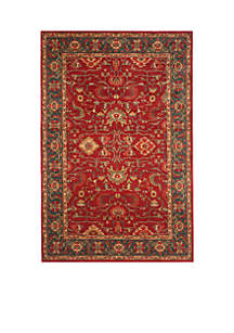 Mahal Red/Navy Area Rug 5-ft. 1-in. x 7-ft. 7-in.