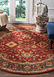 Mahal Red/Navy Area Rug 6-ft. 7-in. x 6-ft. 7-in.
