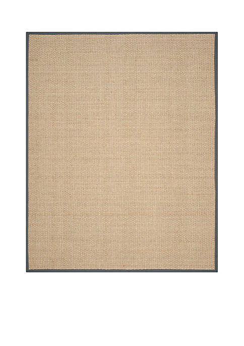 Safavieh Natural Fiber Natural/Dark Gray Area Rug