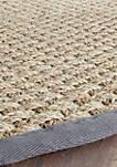 Natural Fiber Natural/Dark Gray Area Rug