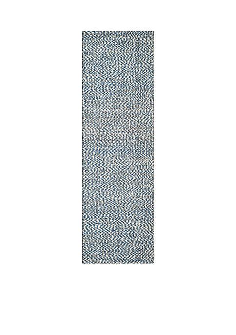 Natural Fiber Blue/Ivory Area Rug 2-ft. 6-in. x 4-ft.