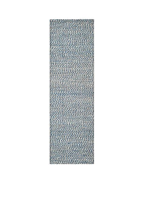 Natural Fiber Blue/Ivory Area Rug 2-ft. 6-ft. x 8-ft.