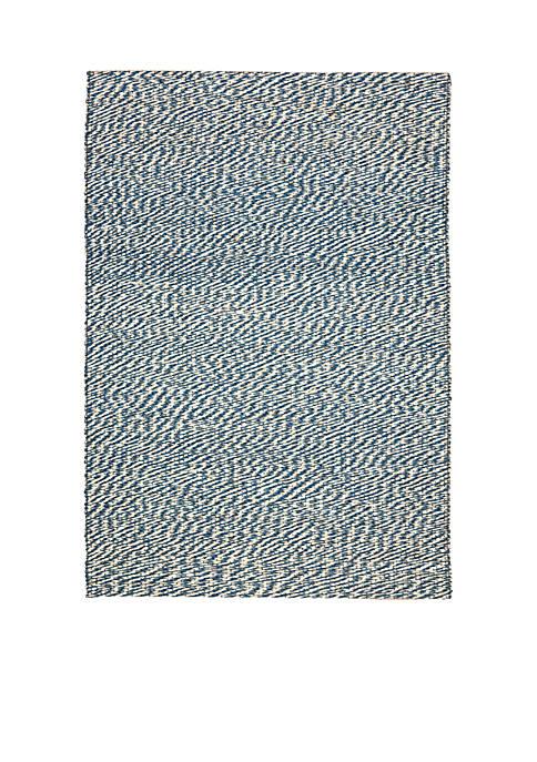 Natural Fiber Blue/Ivory Area Rug 3-ft. x 5-ft.