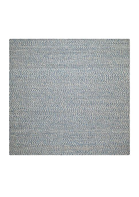 Natural Fiber Blue/Ivory Area Rug 4-ft. x 4-ft.