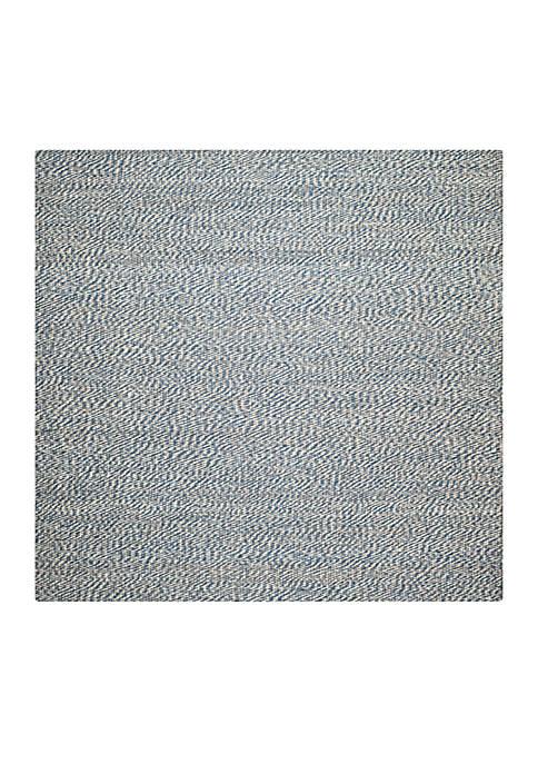 Natural Fiber Blue/Ivory Area Rug 6-ft. x 6-ft.
