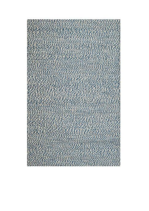 Natural Fiber Blue/Ivory Area Rug 6-ft. x 9-ft.