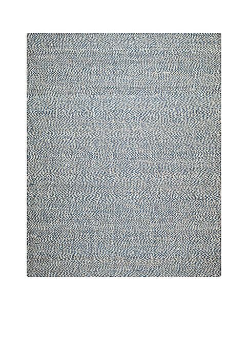 Natural Fiber Blue/Ivory Area Rug 8-ft. x 10-ft.
